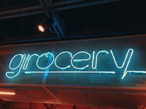 """neon sign """"grocery"""""""